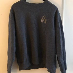 Sweaters - Car Seat Headrest Embroidered Crew (XL)